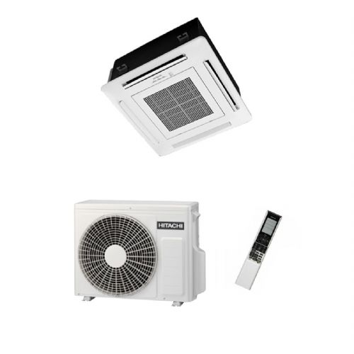 Hitachi Air Conditioning Mini Cassette RAI-25RPA Inverter Heat Pump 2.5Kw/9000Btu A+ 240V~50Hz